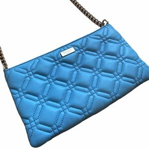 Kate Spade Baby Blue Quilted Crossbody Bag EUC